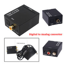 optic fiber digital to analog converter,Digital Optical Coax Coaxial Toslink to Analog RCA L/R Audio Converter Adapter