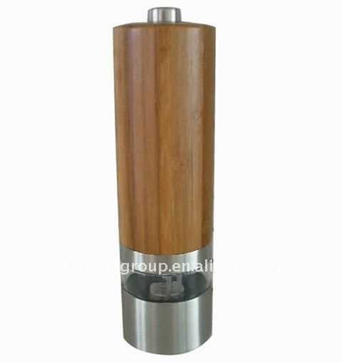 Bamboo Automatic Salt and Pepper Mill Model herb powder grinder