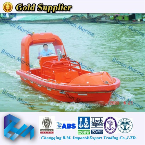 Marine Supplies Sail RINA 9 Person Lifeboat & Rescue Boat On Market