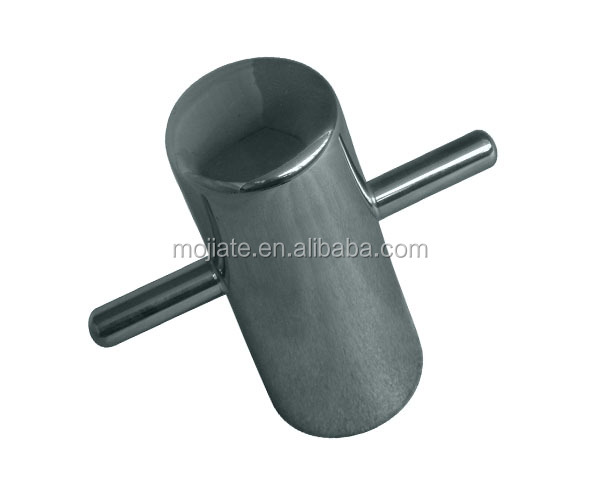 stainless steel boat marine cross bollard single without baseplate mirror polishing