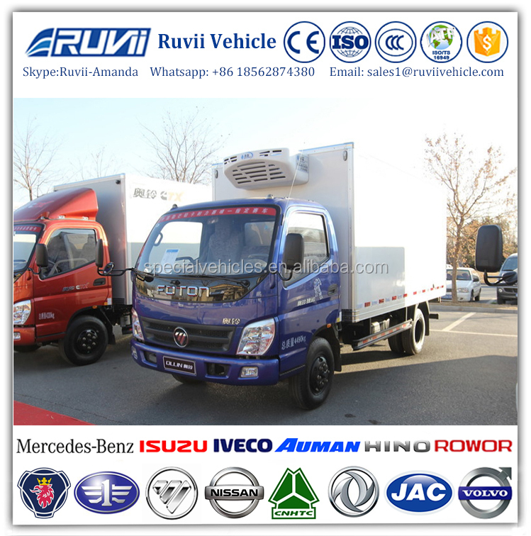 food transport refrigerated vehicle, 4x2 ice cream refrigerated truck manufacturer, diesel reefer box refrigerator truck