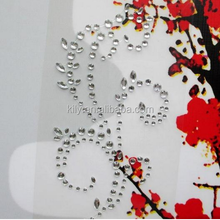 Crystal Flower Rhinestone Sticker,Self-adhesive Rhinestone For Car Decoration