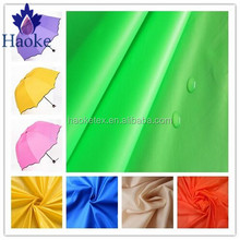 100% polyester pu coating 190T taffeta waterproof umbrella fabric