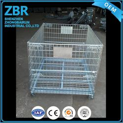 heavy duty wire mesh house metal storage cage collapsible stillage pallet box containers