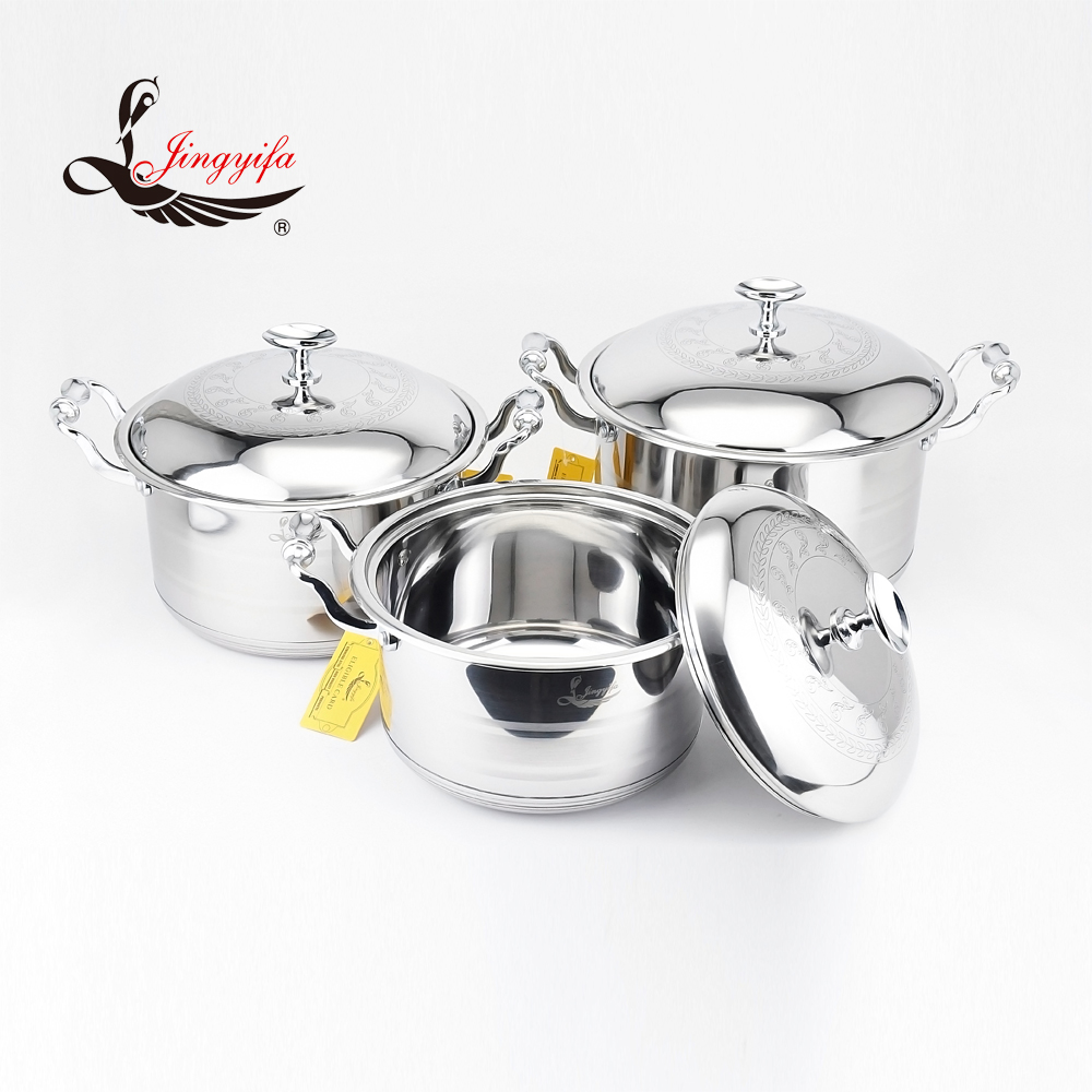 Various size from 16 to 34 cm Korean stainless steel kitchenware cookware set