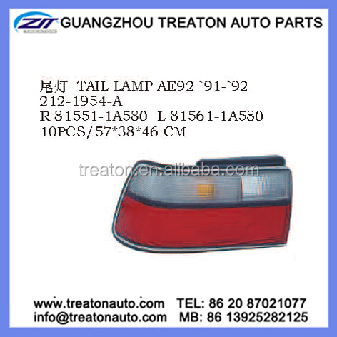 TAIL LAMP 81551-1A580 81561-1A580 FOR TOYOTA COROLLA EE90 AE92