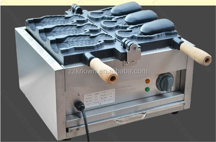hot sale for coffee shop commercial electric double head big mouth taiyaki machine