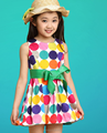 2016 wholesale baby girl summer party wear dress