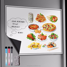 "Fancy Menu 17"" x 11"" Flexible Magnetic Whiteboard Magnetic Dry Erase Whiteboard for Refrigerator Decorate"