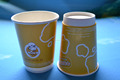 12oz hot drink disposable double wall paper coffee cup