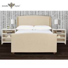 Home furniture factory direct sell one piece MOQ modern bedroom furniture bed, king size headboard set bed frame