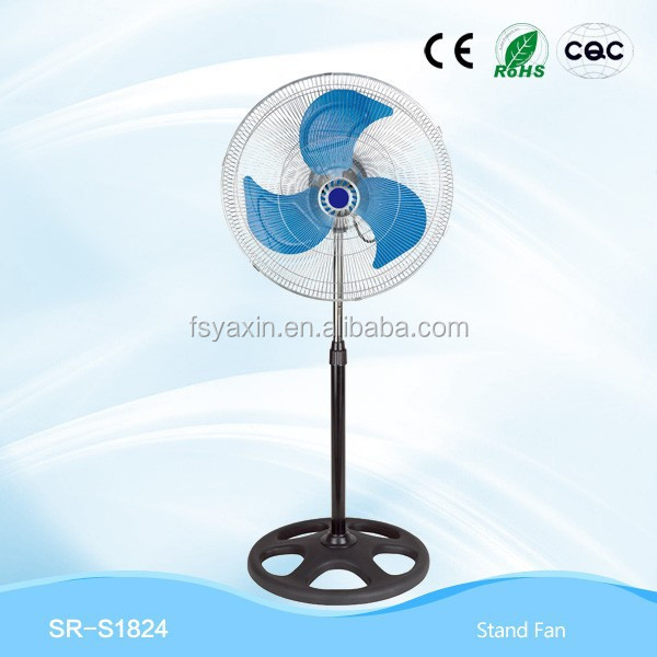 new design colorful standard 24 inch cheap industrial stand fan