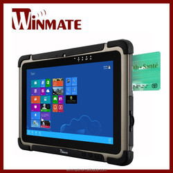 Winmate 10.1 inch Built-in Smart Card Reader Low-power system with ntel BayTrail-M Rugged Tablet Computer