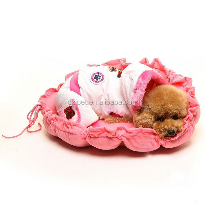 luxury pet dog bed wholesale dog bed Drawstring pink bed PB12