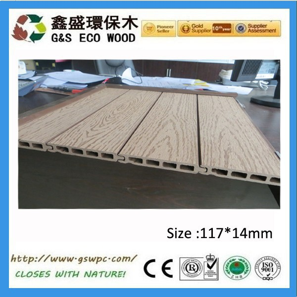 G&S 2015 New Design ! Water resistant wood plastic composite wpc wall panel/wpc wall cladding