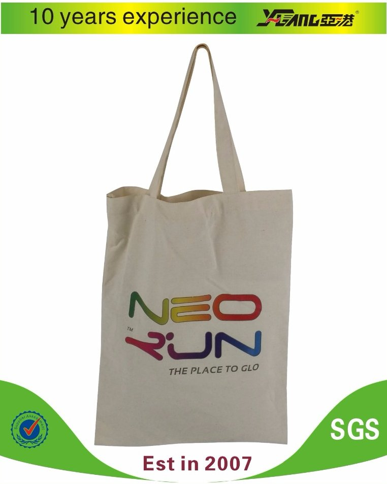 100% cotton canvas fabric plain cotton tote bag