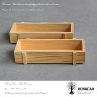 HONGDAO Custom Manufacture Wholesale Retro Succulent Plants Flowerpot Gardening Storage Wooden Box For Gift