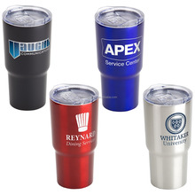 double wall tumbler YE TI leak proof stainless steel cup 30 OZ vacuum travel mug 100% BPA free