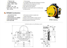 Elevator PM drive motor gearless traction machine