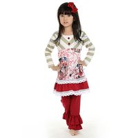 2016 Wholesale children boutique clothing sets spring fall winter persnickety remake outfits