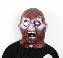 Halloween costume party dress up horror latex mask Cheap ugly zombie head masks