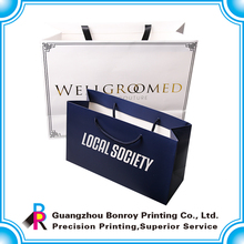 Semi glossy paper made paper bag shoes packaging