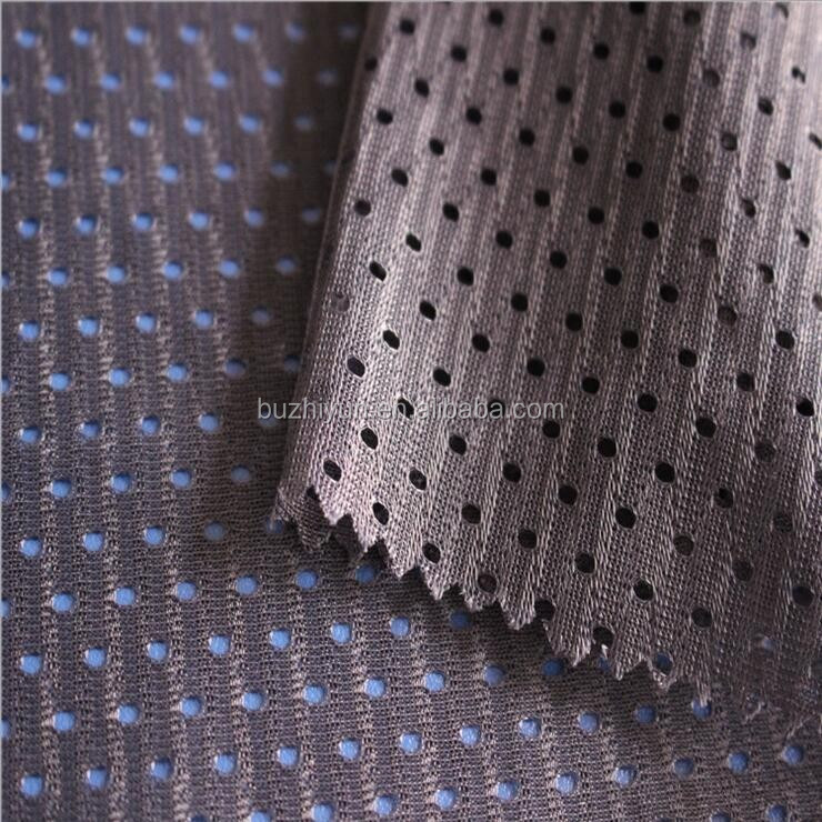 polyester hole mesh fabric for sportwear outdoor lining flag basketball football