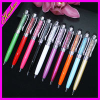 High quality slim dotted metal ball pen with crystal