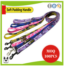 2017 Custom Print Soft Padding Pet Dog Leash