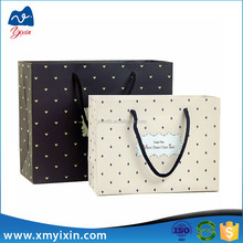 Recycled & Custom make paper packaging bag/shopping gift bag for retail