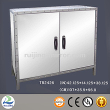 mirror glass metal hospital cabinet glass door