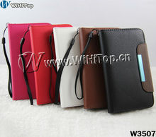 Luxury PU leather case for Samsung Galaxy note n7000 i9220 back cover flip leather case