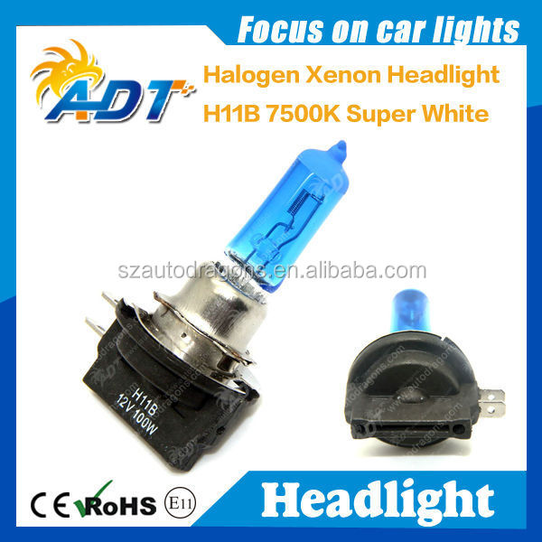 Ultra white H11B New Xenon Halogen HID Look Foglights Bulbs 6000K