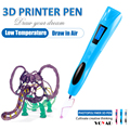 Low temperature rechargeable SLA 3D Pen/ 3D doodler pen for freestyle painting