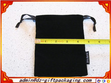 Great Black Custom Velvet Drawstring Pouch Bag