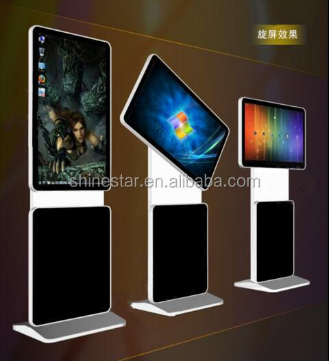 "32"" inch LED floor stand rotating totem monitor digital signage display with Android OS"