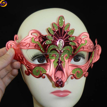 cute girl Colorful plated peacock animal head masks for party
