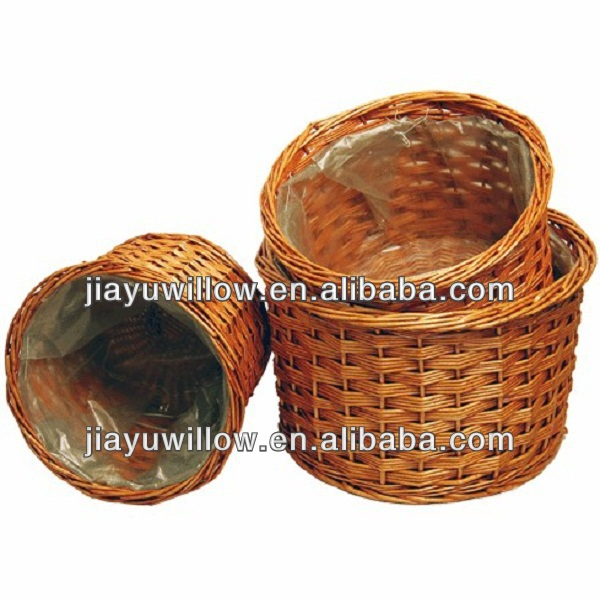2014 Linyi rural plastic lined plant basket empty From Manufacturer