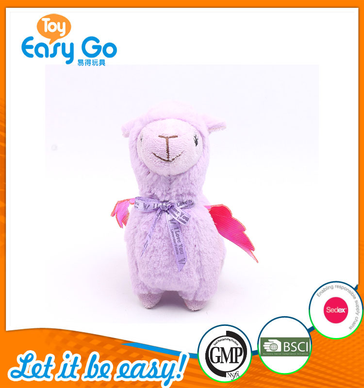 Hot Sale Cute Purple Sheep With Red Wing Plush Toy