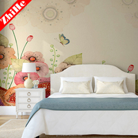 Wholesale country 3d wall paper interior decoration wall paper beautiful flower design wallpaper