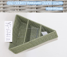 fashion triangle shape paper weaving organizer with compartment