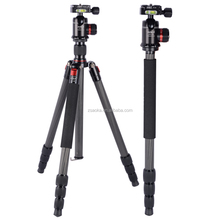 Portable professional carbon travel compact tripod stand for camera