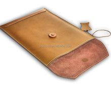 2015 fashion design tablet case retro style cowhide leather envelope pouch case skin cover for acer iconia