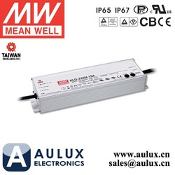 HLG-240H-24A Meanwell 240W 24V 10A LED Driver 7 years IP65 LED Power Supply