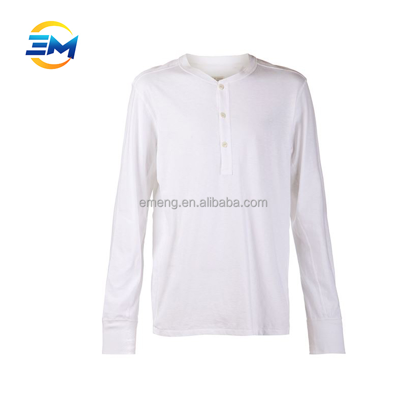 2017 Cheap Price Long Sleeves White 100 Cotton T shirt