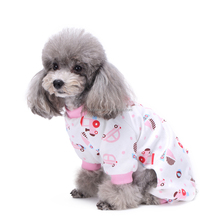 Wholesale Dog Supplies Cute Pink Car Dog Pjs With Feet XS-XL 5 Sizes Pet Apparel