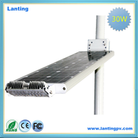 High efficiency induction photocell solar street lamp