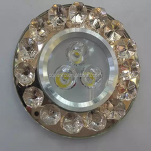 warranty 2 years 220V cut hole 80mm recessed crystal led downlights