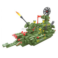 Collectible Plastic Educational Building Military Toy Boats Of Military Series