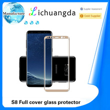 Hot bending full cover tempered glass screen protector for samsung S8 S8 plus full cover